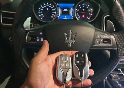 קידוד ושכפול מפתחות לרכב מזראטי